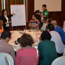 Discussions during Session 3 on the future of local initiatives in Egypt
