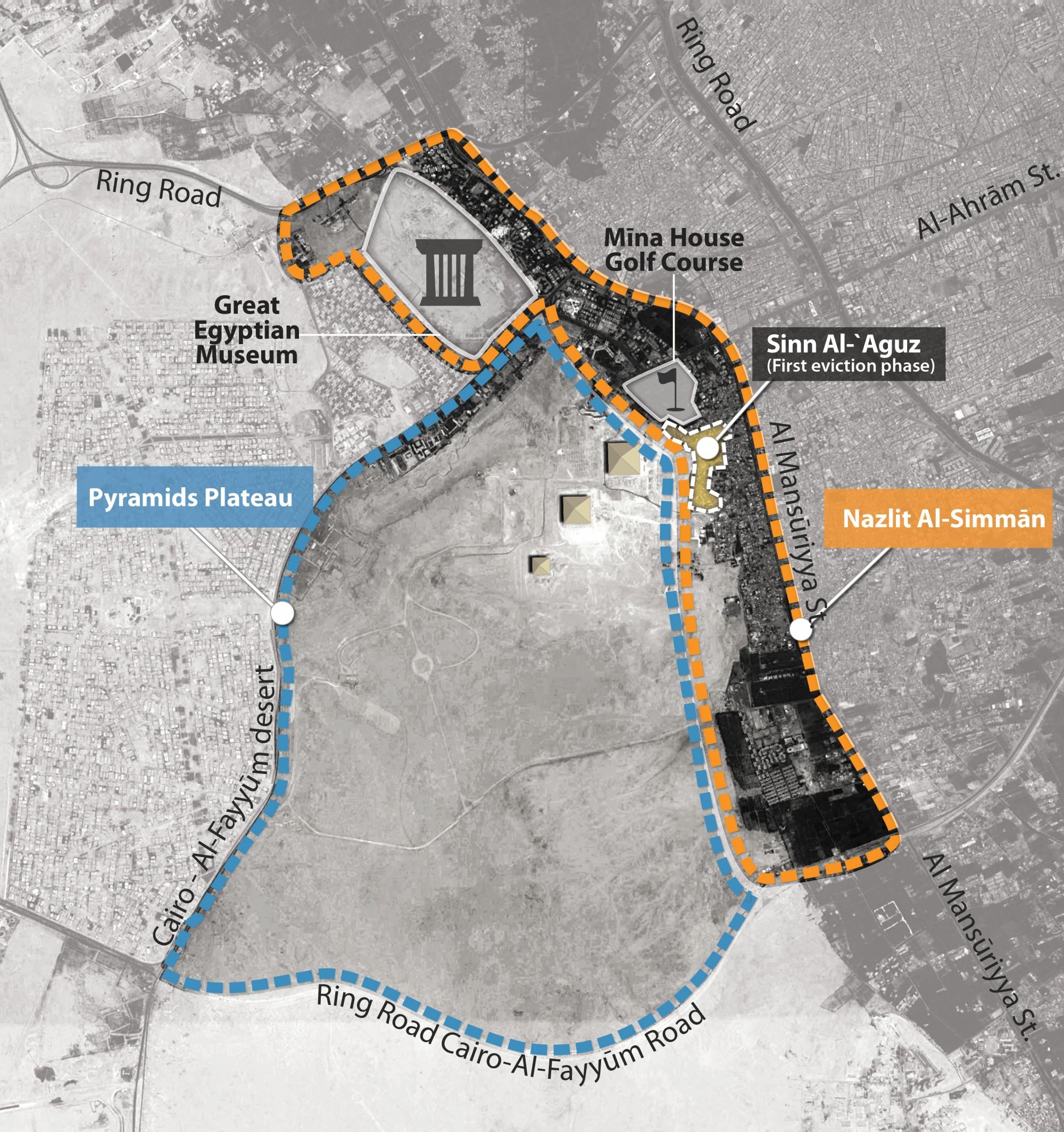 Nazlit al-Simman map