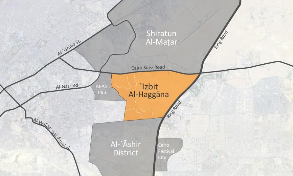 'Izbit Al-Haggāna Location
