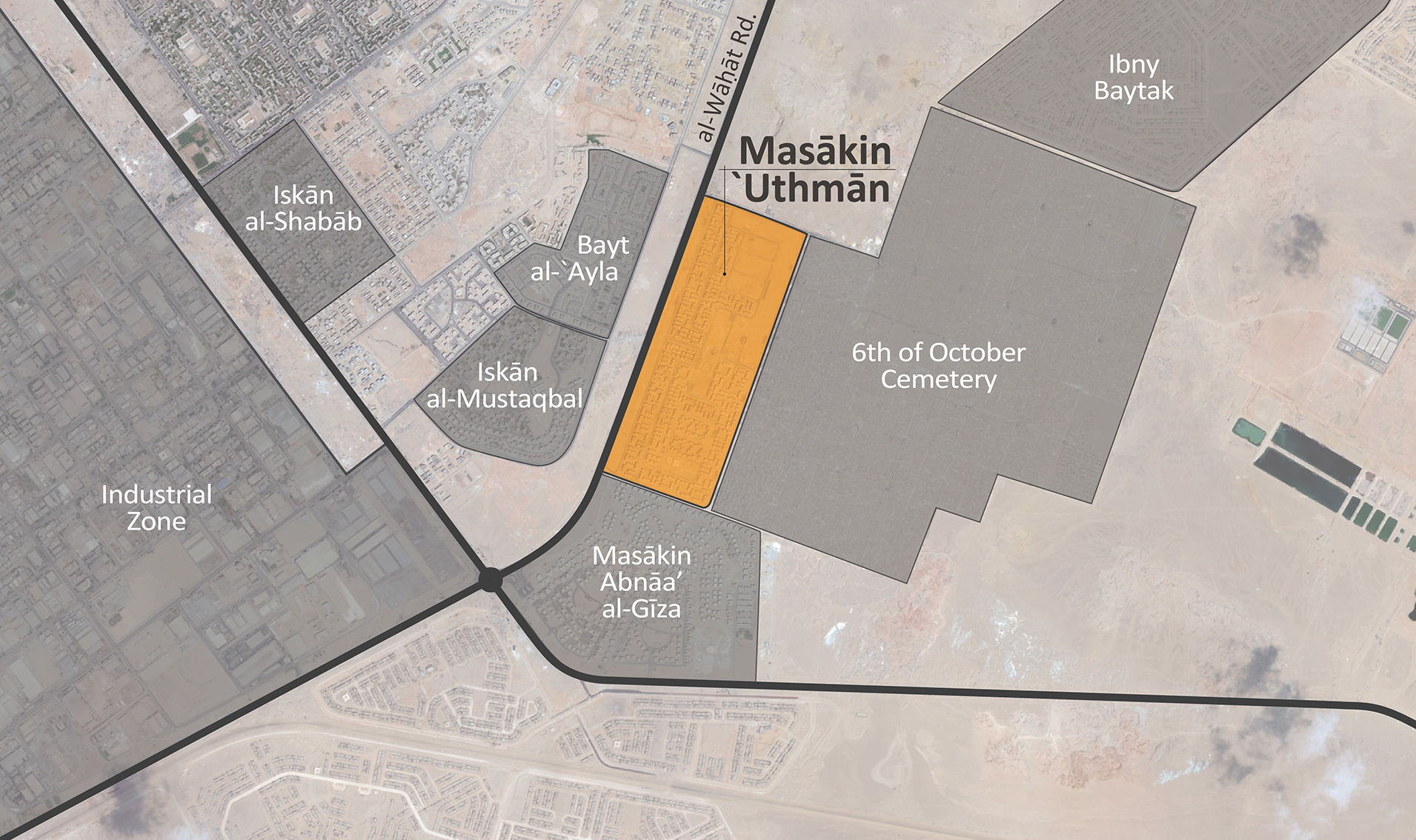Masākin 'Uthmān is joined in the area by a number of other housing complexes.