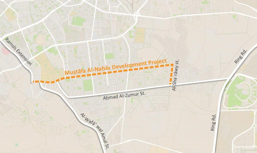 Mostafal Al-Nahhas development project and its surrounding area Credit: TADAMUN. image source: Google Maps