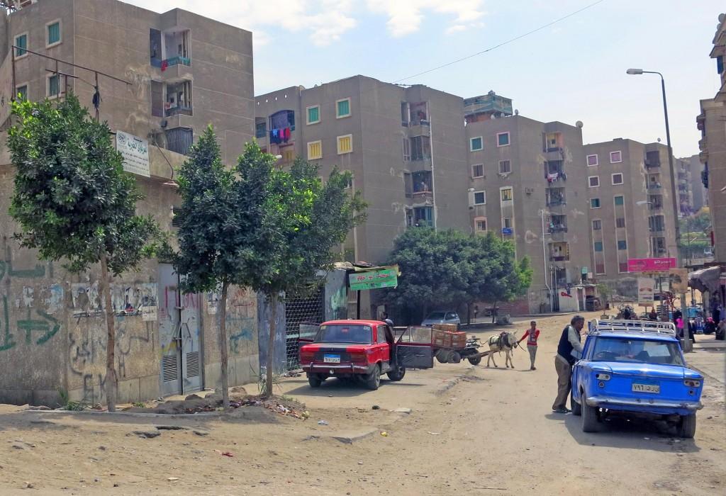 منطقة الحرفيين. إحدى مناطق الإسكان الحكومي  داخل منشية ناصر. تضامن 2015
