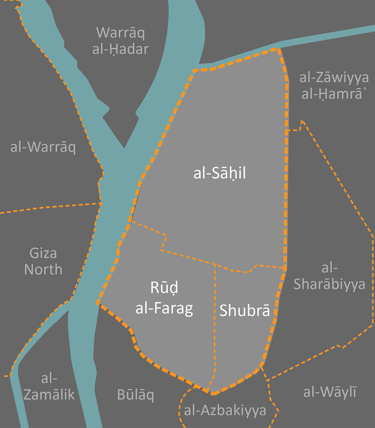 Shubra and its surrounding administrative districts