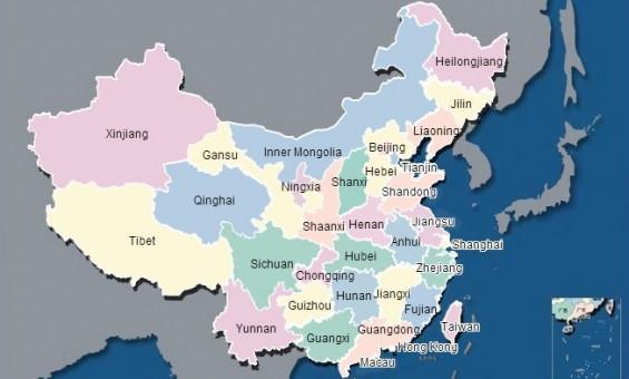 """خريطة متاحة على الانترنت، نشرها """"معهد الشؤون العامة والبيئية"""" الذى يديره """"ما جون"""" فى بكين، وهى تظهر نوعية المياه ودرجة تلوثها فى مختلف أنحاء الصين. المصدر:  www.ipe.org.cn"""