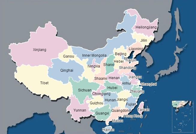 """خريطة تظهر نوعية المياه ودرجة تلوثها فى مختلف أنحاء الصين عملت بمعهد الشؤون العامة والبيئية الذى يديره """"ما جون"""" فى بكين.  المصدر: www.ipe.org.cn"""