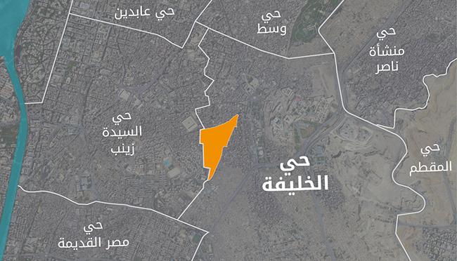 المناطق المحيطة بالخليفة : خريطة الأحياء