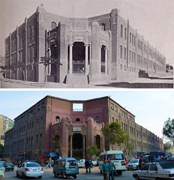 """(الآن وسابقاً) المدرسة اليهودية المجتمعية - للأولاد والبنات - وتسمى أيضا """"مدرسة سيبل في شارع سبيل الخزندار، القاهرة. (1928). المصدر"""