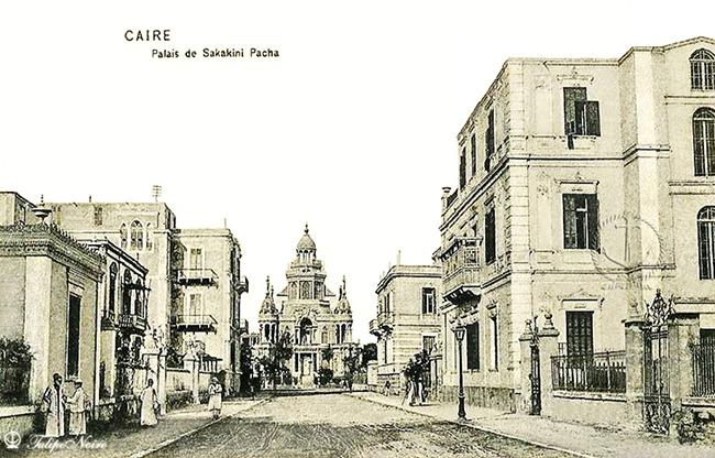 الظاهر عام 1908، ويظهر قصر السكاكيني في المنتصف. المصدر