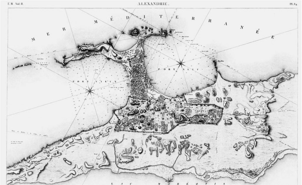 Figure 3. Alexandria in 1798. (Source: Description de l'Égypte, Vol. V, Planche 31)
