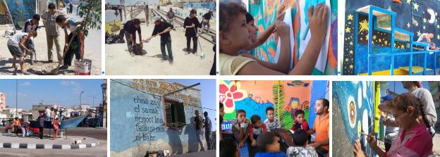 ورش العمل المنظمة من قبل جدران في قرية الصيادين. المصدر: موقع جدران.