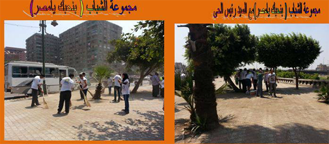 صورة 10: التدخلات في عام 2013 بعد الإطاحة بالرئيس مرسي. المصدر: صفحة رئيس دائرة حي المطرية على فيسبوك، 2016.