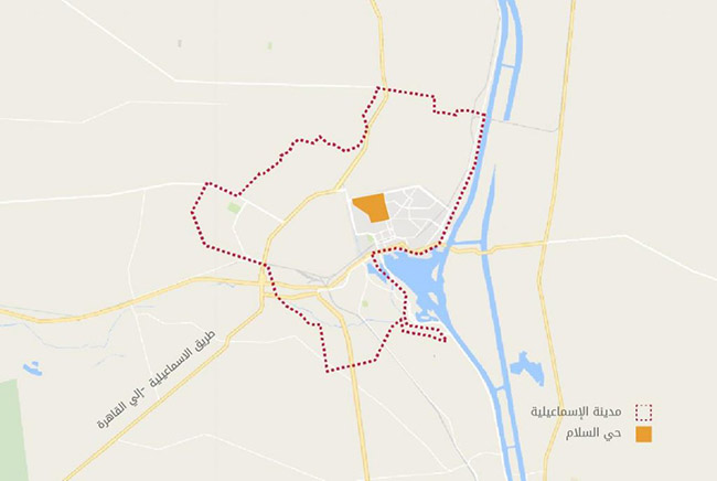 The al-Salām district location in Ismāʿīlīya city. Source: Tadamun 2016