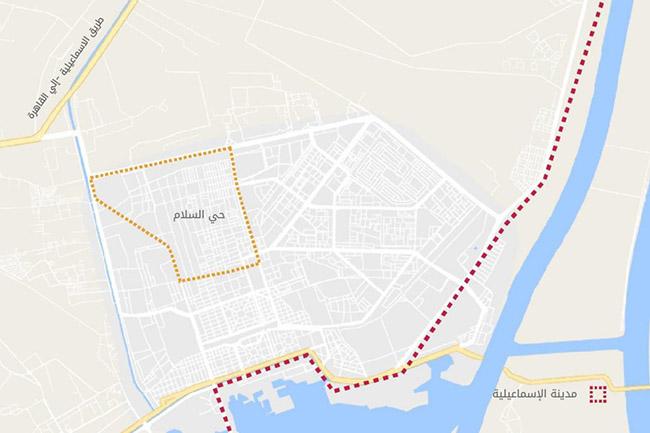 The current urban fabric of the al-Salām neighborhood inside the urban block of Ismāʿīlīya. Source: Tadamun 2016