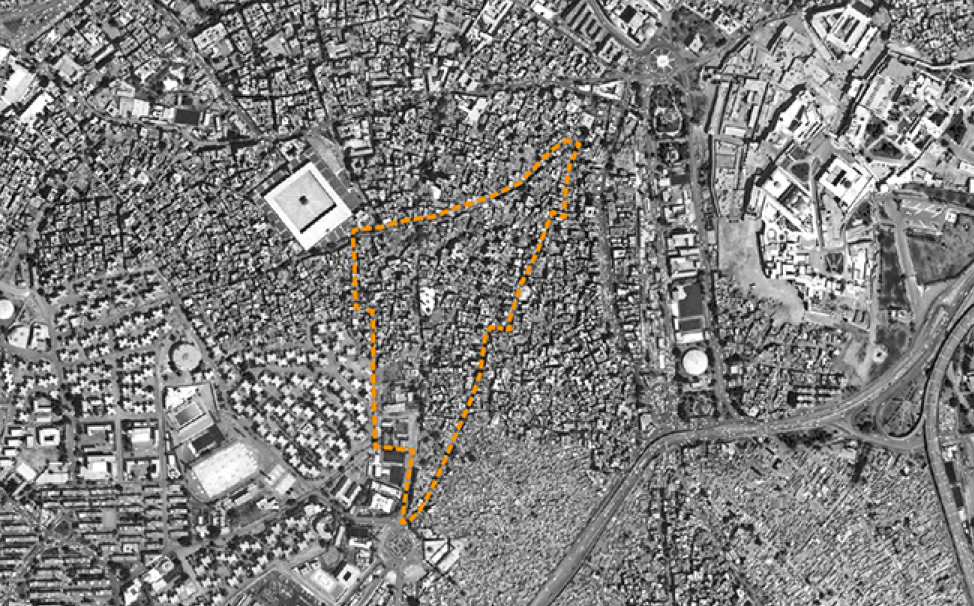 The boundaries of the al-Khalīfa area from the point of view of its inhabitants. Source: Tadamun 2016