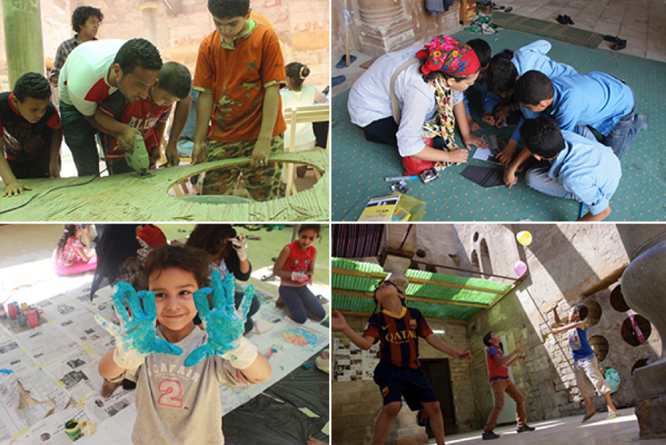The children of al-Khalīfa found a sanctuary to express their creative energies, play and learn in Mustaūṣf al-Khalīfa building in the headquarters of the Athar Lina Initiative and Megawra. Source: Athar Lina Initiative. n.d.