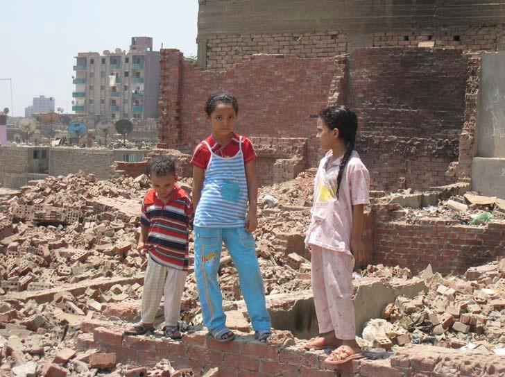 منازل تمت إزالتها في عزبة عنتر (الُتقطت الصورة في أغسطس/ آب 2009). المصدر: منظمة العفو الدولية