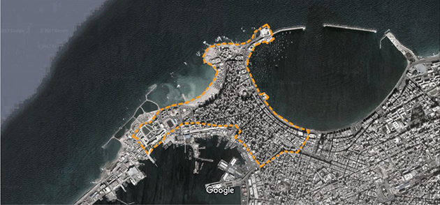 الشكل 1: خريطة المنطقة