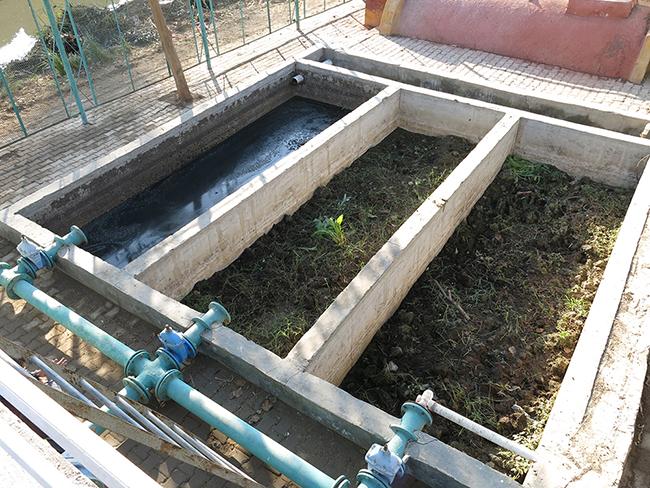 جزء من محطة معالجة المياه العادمة